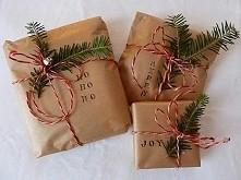 pomysl na pakowanie prezentów :) prosto a jak pięknie!