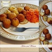Kuleczki ziemniaczane! Chrupiące na zewnątrz i delikatne w środku :) Idealne jako samodzielne danie, dodatek do mięsa a także jako przystawka :) Przepis po kliknięciu na zdjęcie!