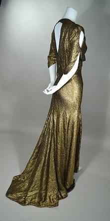 suknia wieczorowa, późne lata 30-te