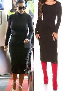 Dzianinowa sukienka w styli Kim Kardashian