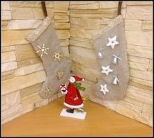 świąteczne skarpety na prezenty!! Kliknij w zdjęcie po szczegóły jak je zrobić!