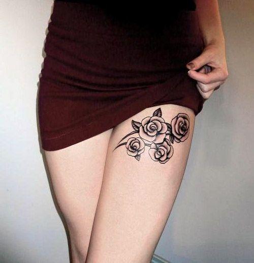 Tatuaże Damskie Delikatne Róże Na Tatuaże Zszywkapl