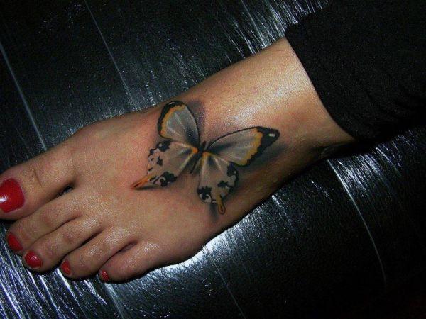 Tatuaże Na Stopie Motyl 3d Na Tatuaże Zszywkapl