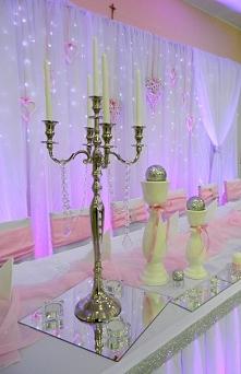 Dekoracje ślubne sal, kościołów fb/ręcznie robione