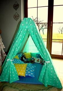 Miętowy namiot do zabawy dla dziecka