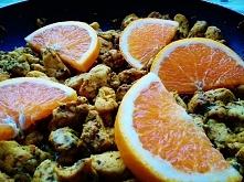 Kurczak curry z pomarańczą.