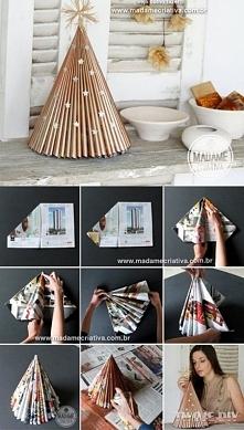papierowa choinka DIY