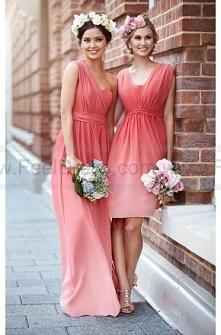 Sorella Vita Coral Ombre Bridesmaid Dress Style 8471OM
