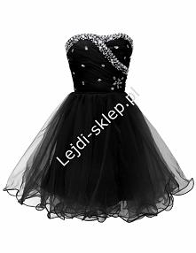Tiulowa sukienka z kryształkami na studniówkę / karnawał