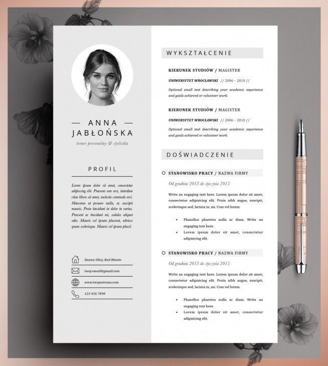 Nowość To profesjonalne CV do edycji zwiększy Twoje szanse w rekrutacj PS11