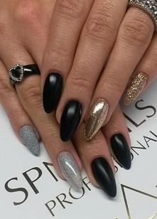 mat + błysk :-)  Nails by Justyna, Beautica, SPN Nails Team