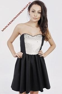 elegancka sukienka z cekiami
