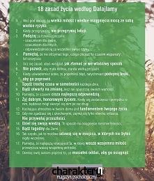 Zaprojektuj swoje szczęście! 18 zasad życia według Dalajlamy