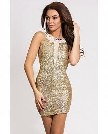 *SYLWESTER* Złota sukienka ...