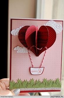 kartka balon serce :)