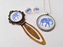 Biżuteria z grafikami - Słoń