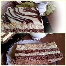Ciasto Milky Way SKŁADNIKI Biszkopt: 7 jajek 1 szklanka mąki pszennej 1 łyżeczka proszku do pieczenia 1 szklanka cukru 3 łyżki kakao Polewa czekoladowa: 2 łyżki margaryny 2 łyżk...