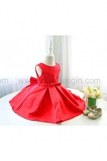 Super Cute Infant&Baby Red Christmas Dress, Sleeveless Toddler Thanksgiving Dress, Baby Glitz Pageant Dress
