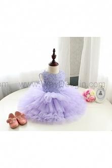Elegant Lavender Pageant Dress, Toddler Flower Girl Dress, Lavender Baby Tutu, Infant Flower Girl Dress