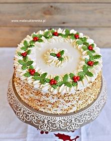 Tort czekoladowy z żurawiną...