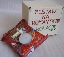zestaw na romantyczną kolację