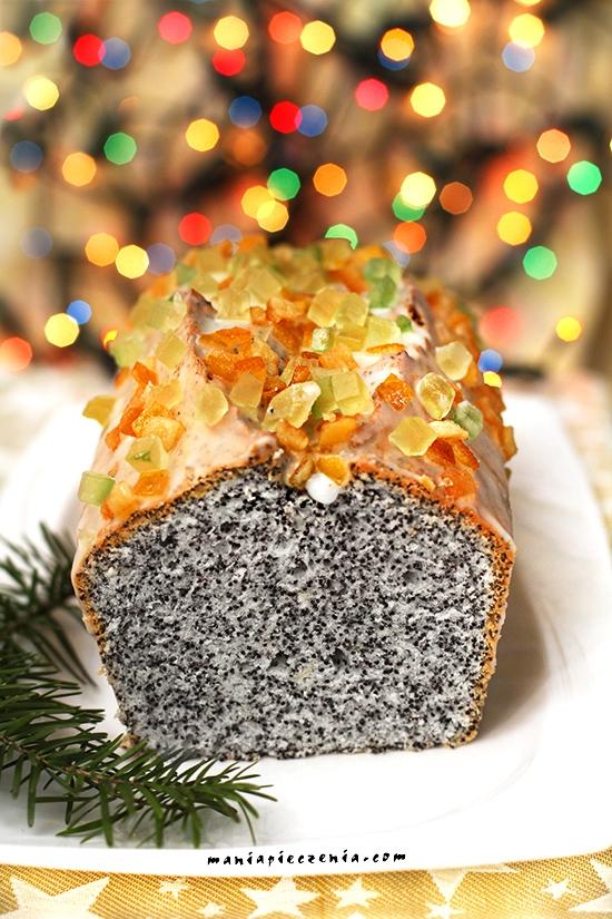 """PIEGUSEK na białkach czyli popularne """"szklankowe"""" ciasto z makiem. Idealne dla zabieganych. Przepis po kliknięciu w zdjęcie (maniapieczenia.com)"""