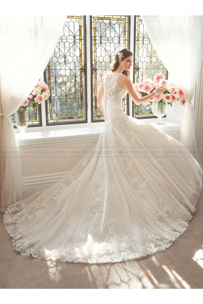 Sophia Tolli Style Y11641 - Aricia Sleeveless Athena tulle and lace A-line wedding gown USD$489.00 (49% off) 2016 wedding dress,cheap wedding dresses online,plus size wedding dresses,wedding dress for sale,wedding dress prices