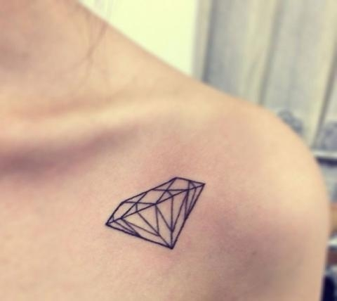 Tatuaż Diament Na Inspiracje Czyli Wszystko Co Mi Się Podoba