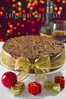 Christmas Fruit Cake - Świąteczne ciasto z suszonych owoców, przepis z maniapieczenia.com