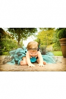 Beautiful Girl Tutu Dress, Photo Prop, in Beautiful Turquoise and Black