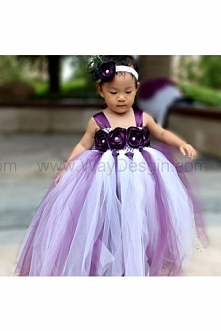 Flower Girl Dress Plum tutu dress baby dress toddler birthday dress wedding dress