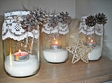 Zimowe świeczniki :) Po więcej inspiracji zapraszam na swojego bloga :)