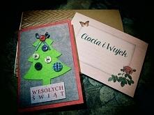 Zafilcowana kartka świąteczna :) Tak przy okazji - dobrych świąt dla was! :*