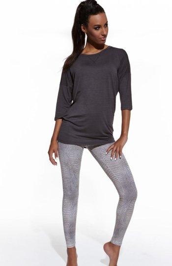 Cornette Kate 632/27 piżama Dwuczęściowa piżama damska, bluzeczka z dodatkiem kaszmiru, rękaw 3/4