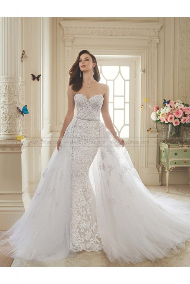 Sophia Tolli Style Y11652 - Maeve Two-piece lace and misty tulle wedding dress  USD$559.00 (50% Off)  2016 wedding dress,cheap wedding dresses online,plus size wedding dresses,wedding dress for sale,wedding dress prices