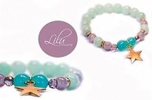 Przepiękna bransoletka od Lilu bransoletki - jej elementy to szkło i szkło im...