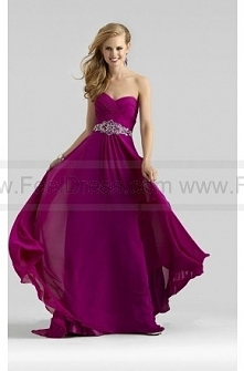Strapless ruched gown with ...