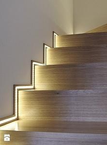 schody z oświetleniem led