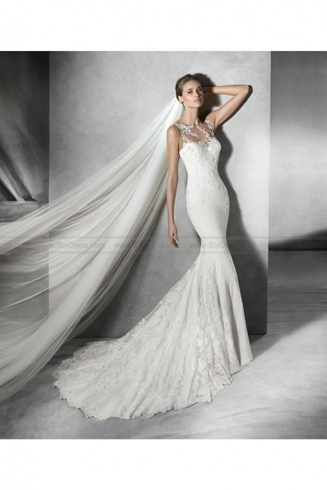 2016 Pronovias Style Prunelle Lace Mermaid wedding dress  USD$499.00 (52% Off)  2016 wedding dress,cheap wedding dresses online,plus size wedding dresses,wedding dress for sale,wedding dress prices