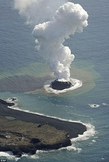 New baby volcano erupts off...
