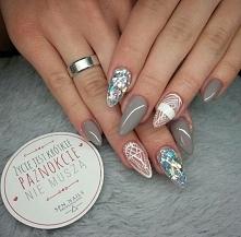 Sylwestrowe szaleństwo!  SPN Nails UV LaQ 670 + Paint Gel Angel White <3  Nails by Roksana Miszewska
