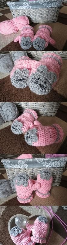 Myszki - rękawiczki :)