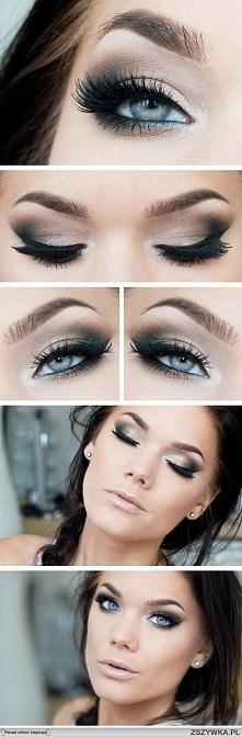 makijaż niebieskie oczy