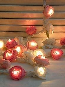 Lampki z róż