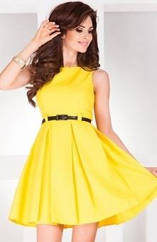 SAF 6-6 sukienka cytrynowa ...