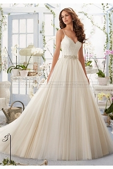 Mori Lee Wedding Dresses Style 5416 lace bridal gown