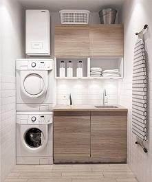 Prosty, lekki design pralni...
