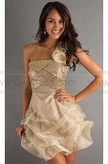 One Shoulder Flower Ruffled Tulle Homecoming Dress  $159.00 (55% off)  2016 Cocktail Dresses,plus size Cocktail Dresses,cheap Cocktail Dresses,Cocktail Dress prices,Cocktail Dre...
