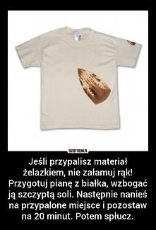 Przypalona bluzka żelazkiem