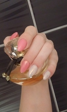 manicure hybrydowy, efekt syrenki